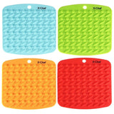 Silicone Pot Holder X-Chef Pot Holders Silicone Kitchen Mat set of 4 for Baki... - Chickadee Solutions - 1