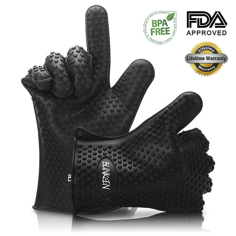 Blinkeen Silicone Heat Resistant BBQ Grill Gloves Great for Barbeque Oven Coo... - Chickadee Solutions - 1