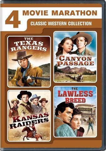 4 Movie Marathon: Classic Western Collection (The Texas Rangers / Canyon Pass... - Chickadee Solutions