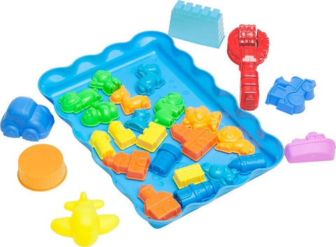 Deluxe City Sand Molds Kit (28 pcs) with Play Tray - Compatible with Kinetic ... - Chickadee Solutions - 1