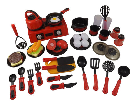 Liberty Imports 44 Piece Mini Breakfast Stove Kitchen Appliance Play Food Toy... - Chickadee Solutions - 1