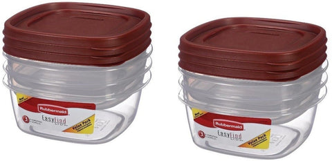 Rubbermaid Easy Find Lids Storage Containers Value Pack 3 each( Pack of 2 ) Red - Chickadee Solutions