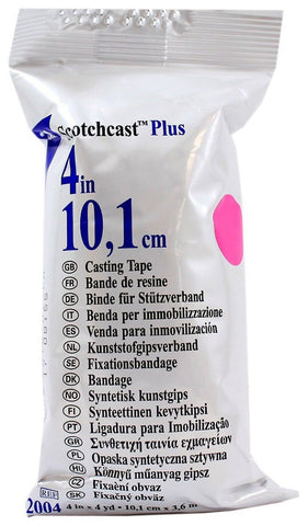"3m 82004X ScotchCast Plus Casting Tape 4"" x 4 Yards - Pink - 1 Roll - Chickadee Solutions"