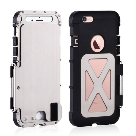 Alienwork Metal Gear Case for iPhone 6 Plus/6s Plus Shock Proof Bumper Cover ... - Chickadee Solutions - 1