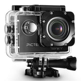 "Pictek Sports Action Camera 1080P HD WIFI 12MP 2.0"" 170 Wide Angle Lens Water... - Chickadee Solutions - 1"