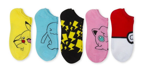 *NEW ITEM* Pokemon 5 Pk No show Socks - Chickadee Solutions