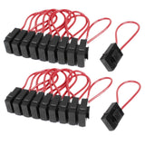 30A Wire In-line Fuse Holder Block Black Red for Car Boat Truck 20pcs - Chickadee Solutions - 1