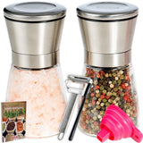 Salt and Pepper Grinder Set by MYS HOMEWARE - Adjustable Stainless Steel Pepp... - Chickadee Solutions - 1