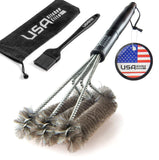 "BBQ Grill Brush By USA Kitchen Elite - Best Barbecue Grill Cleaner - 18""- 3 S... - Chickadee Solutions - 1"