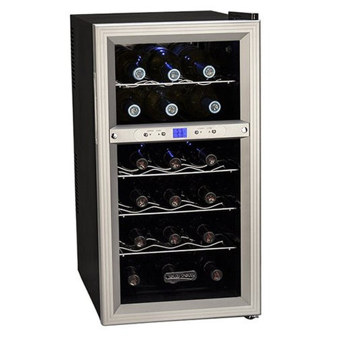 Koldfront 18 Bottle Dual Zone Thermoelectric Wine Cooler - Silver/Black - Chickadee Solutions - 1