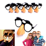 Dazzling Toys Nose Eyebrows & Mustache Glasses - Pack of 6 Sets - Chickadee Solutions - 1