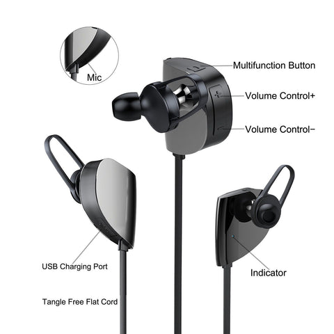 vomach bluetooth earphones wireless bluetooth earbuds sports stereo in ear no chickadee. Black Bedroom Furniture Sets. Home Design Ideas