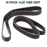 1x30 - 1000 Grit 10 Pack - Silicon Carbide Sanding Belts Model: DE010301000BD - Chickadee Solutions