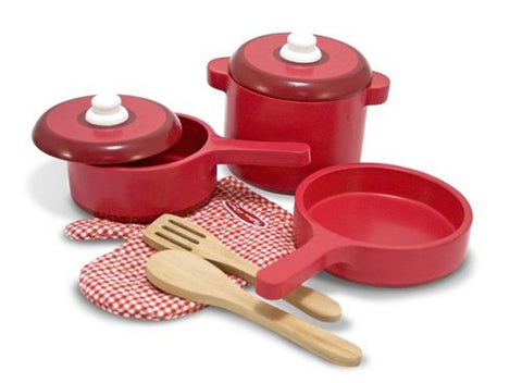 Melissa & Doug Deluxe Wooden Kitchen Accessory Set - Chickadee Solutions - 1