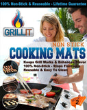 Grill IT (TM) The Original BBQ Grill Mat & Oven Mat - Set of 2 Mats - Up to 5... - Chickadee Solutions - 1