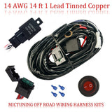 Mictuning Universal 14 AWG 14 ft 1 Lead Tinned Copper Led Light Bar Wiring Ha... - Chickadee Solutions - 1