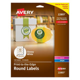 Avery Easy Peel Permanent Print-To-The-Edge Round Labels Laser/InkJet 2-Inch ... - Chickadee Solutions - 1