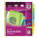 Avery Big Tab Insertable Plastic Dividers 8-Tabs 1 Set (11901) 8 Tabs - Chickadee Solutions - 1