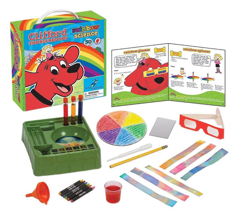 Young Scientist Club Clifford The Big Red Dog Rainbow Science Kit - Chickadee Solutions