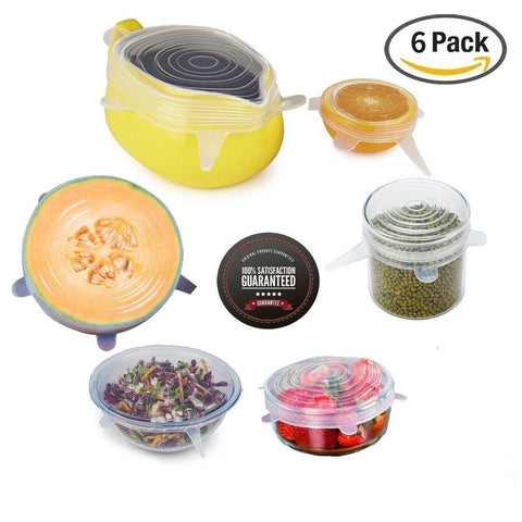 Silicone Stretch LidsSet Of 6 pcs Multi Size Reusable OUNLIFE Silicone Lids C... - Chickadee Solutions - 1