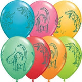 "11"" Dinosaurs In Action Festive Latex Balloons - Chickadee Solutions"