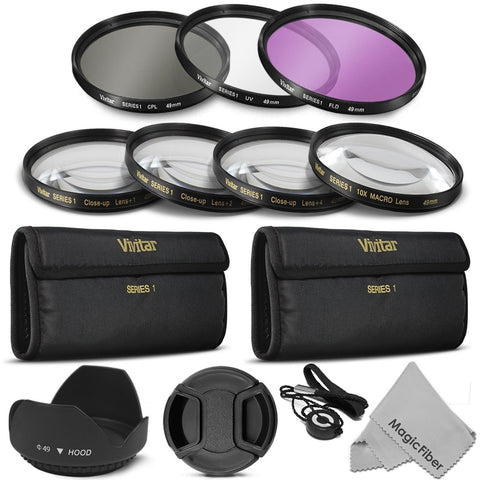 49MM Professional Lens Filter and Close-Up Macro Accessory Kit for SONY Alpha... - Chickadee Solutions - 1