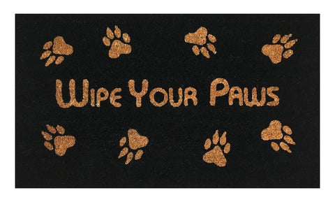 """Wipe Your Paws"" Doormat by Castle Mats Size 18 x 30 inches Non-Slip Durable ... - Chickadee Solutions - 1"