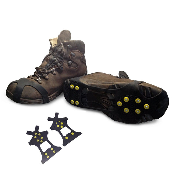 snow traction shoe walking running cleats rubber anti