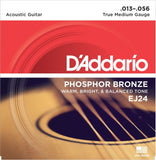 D'Addario EJ24 Phosphor Bronze Acoustic Guitar Strings True Medium 13-56 - Chickadee Solutions - 1