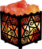 Crystal Decor Natural Himalayan Salt Lamp in Star Design Metal Basket with Di... - Chickadee Solutions - 1