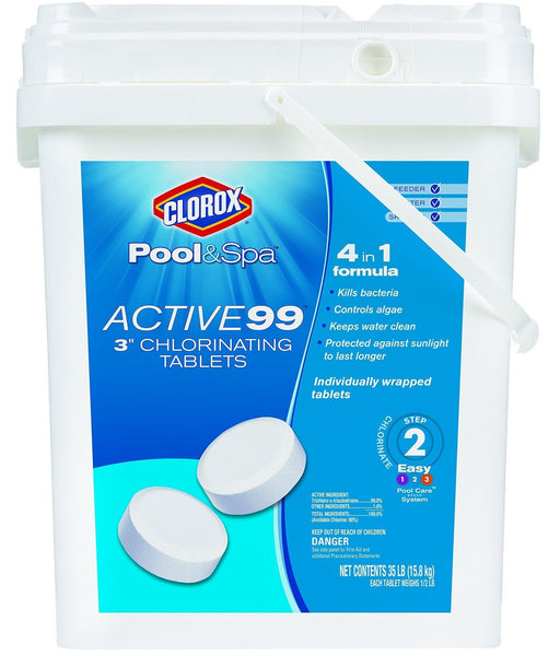 Clorox pool spa 22035clxw active 99 3 inch chlorinating for Active salon supplies