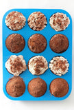 Silicone Muffin Pan -12 Cups Blue Mold & Baking Tray- Reusable Non-Stick Bake... - Chickadee Solutions - 1