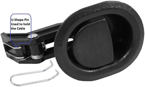 Recliner Replacement Parts @ Small Oval Black Plastic Pull Recliner Handle Fl... - Chickadee Solutions - 1