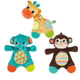 Bright Starts Snuggle Teether (each sold separately) Monkey/Giraffe/Elephant - Chickadee Solutions - 1
