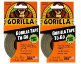 Gorilla Tape To-Go(2Pack) Black 2Pack - Chickadee Solutions - 1