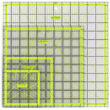 "Acrylic Quilters Ruler Non-Slip Double-Colored Grid Lines (4.5""X4.5"" 6""X6"" 9.... - Chickadee Solutions - 1"