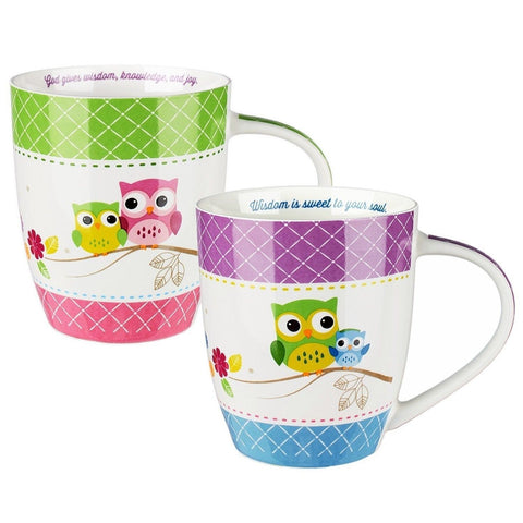 """Wisdom is Sweet"" Inspirational Mugs - Set / 2 - Chickadee Solutions - 1"