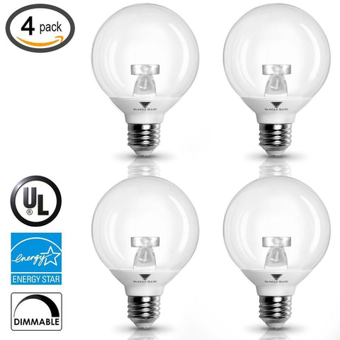 (Pack of 4) G25 LED Bulb 6W Warm white (3000K) 40W Globe Bulb Incandescent Re... - Chickadee Solutions - 1