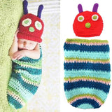 Foxnovo Cute Caterpillar Style Baby Infant Newborn Handmade Crochet Beanie Ha... - Chickadee Solutions - 1