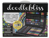 Art 101 Doodlebliss Ecoboard Hybrid Art Set (128 Piece) - Chickadee Solutions - 1