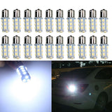 20 X1156 1141 1003 BA15S 18 SMD RV Camper White LED Light Bulbs Tail Backup - Chickadee Solutions - 1