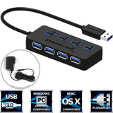 Sabrent 4-Port USB 3.0 Hub with Individual Power Switches and LEDs included 5... - Chickadee Solutions - 1