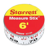 Starrett Measure Stix SM66W Steel White Measure Tape with Adhesive Backing En... - Chickadee Solutions