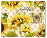 CounterArt Sunflowers in Bloom Glass Cutting Board 15 x 12 Inches - Chickadee Solutions - 1