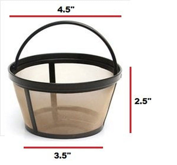 Permanent Basket Style Gold Tone Coffee Filter Designed