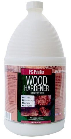 PC Products PC-Petrifier Water-Based Wood Hardener 1 gal Bottle Milky White - Chickadee Solutions