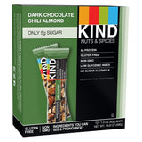 KIND Bars Dark Chocolate Chili Almond Gluten Free 1.4 Ounce Bars 12 Count - Chickadee Solutions - 1