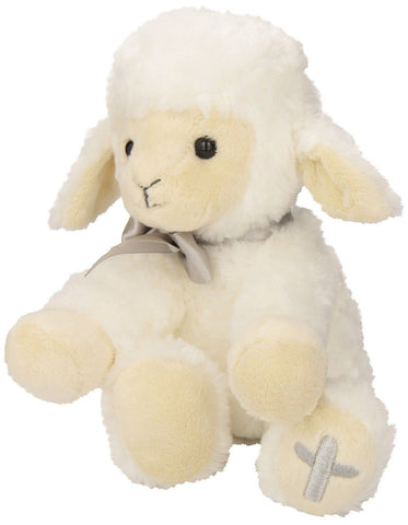 Nat and Jules Plush Toy Lamb with Cross - Chickadee Solutions - 1