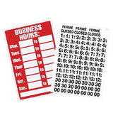 U. S. Stamp & Sign Business Hours Sign with Peel Vinyl Characters 8 x 12 Inch... - Chickadee Solutions