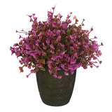 VGIA home decor Purple artificial retro potted plantplastic flower mini tree. - Chickadee Solutions - 1